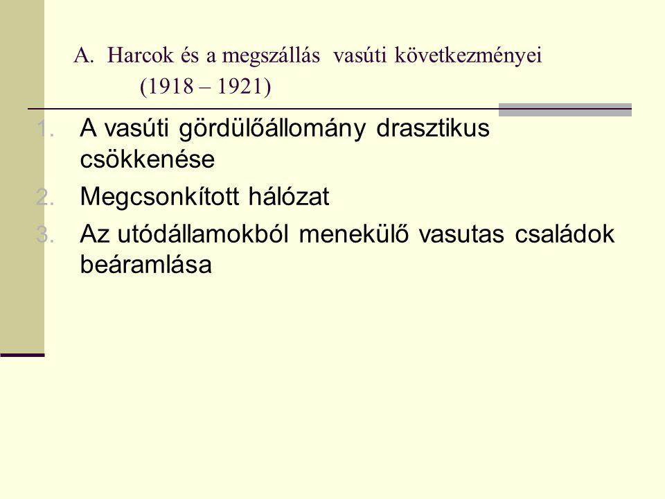 A.Harcok és a megszállás vasúti következményei (1918 – 1921) 1.
