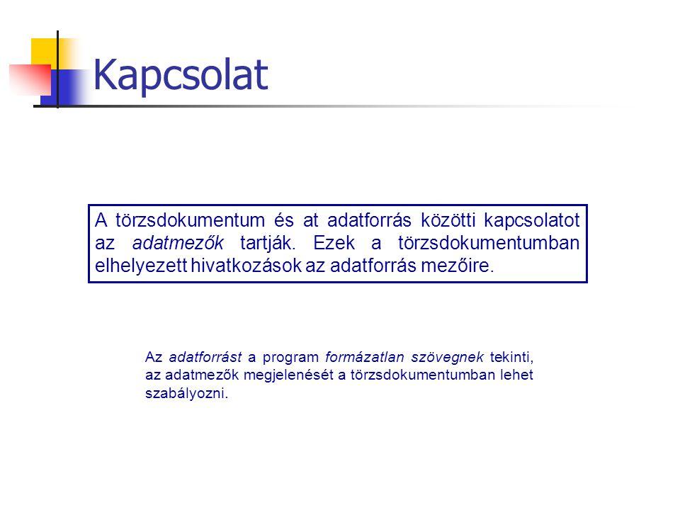 A körlevélkészítés lépései 1.Törzsdokumentum létrehozása 2.Adatforrás hozzárendelése 3.A törzsdokumentum szerkesztése.