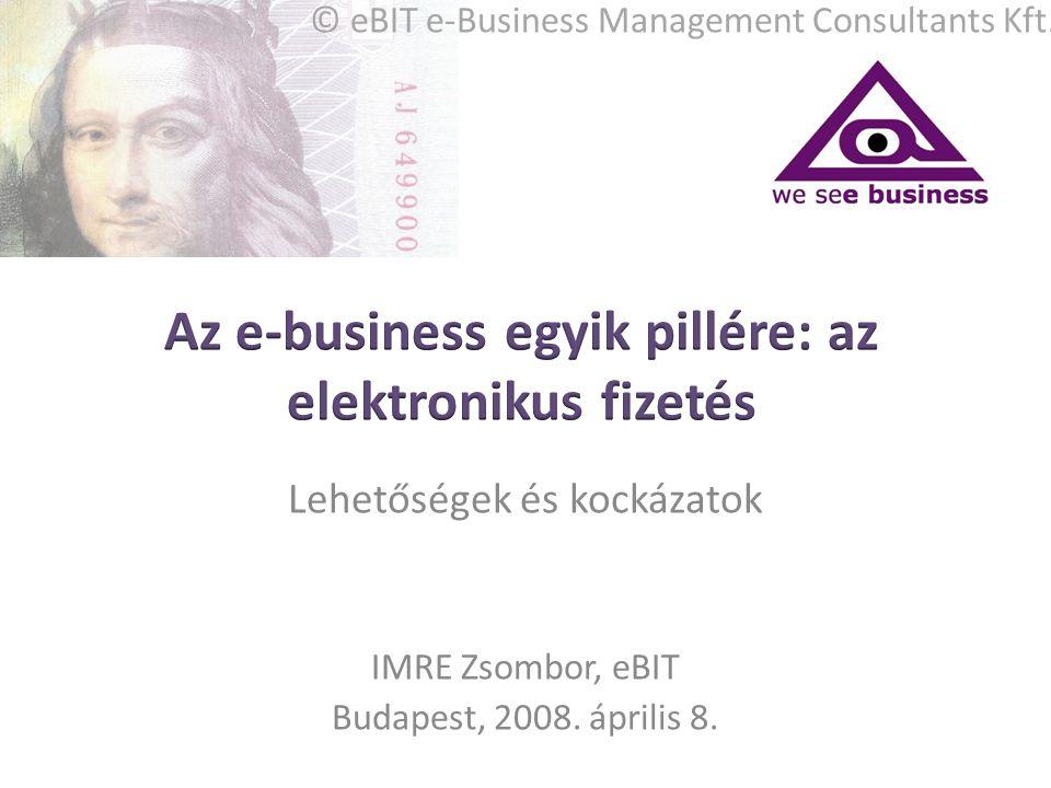 Lehetőségek és kockázatok IMRE Zsombor, eBIT Budapest, 2008. április 8. © eBIT e-Business Management Consultants Kft.