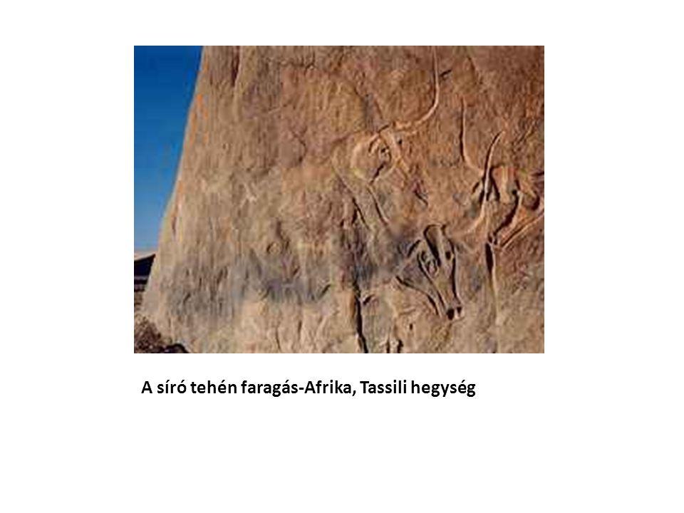 A síró tehén faragás-Afrika, Tassili hegység