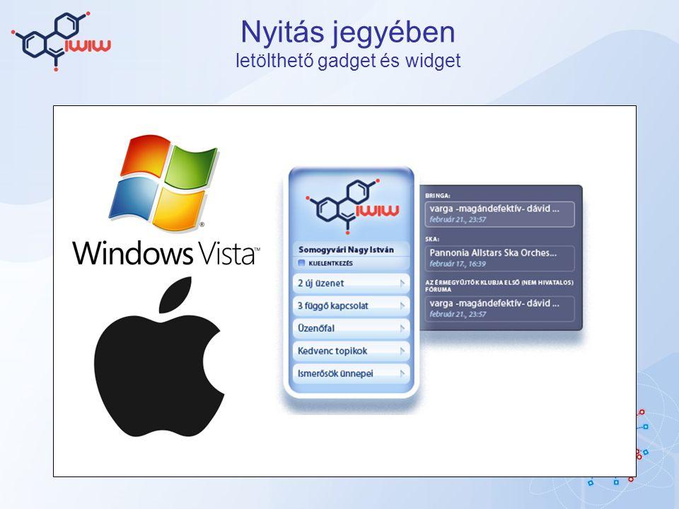 Nyitás jegyében letölthető gadget és widget