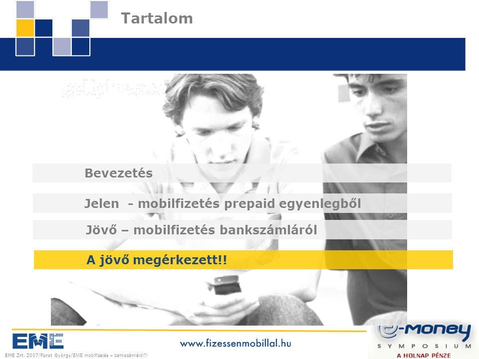 EME Zrt.2007/Fürst György/ EME mobilfizetés – bankszámláról?.