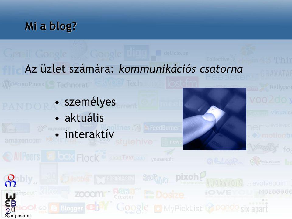 Mi a blog? Az üzlet számára: kommunikációs csatorna személyes aktuális interaktív