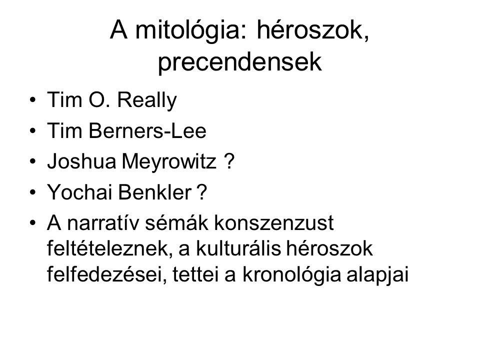 A mitológia: héroszok, precendensek Tim O. Really Tim Berners-Lee Joshua Meyrowitz .