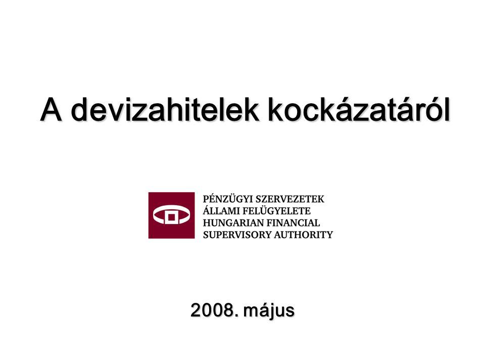 A devizahitelek kockázatáról 2008. május