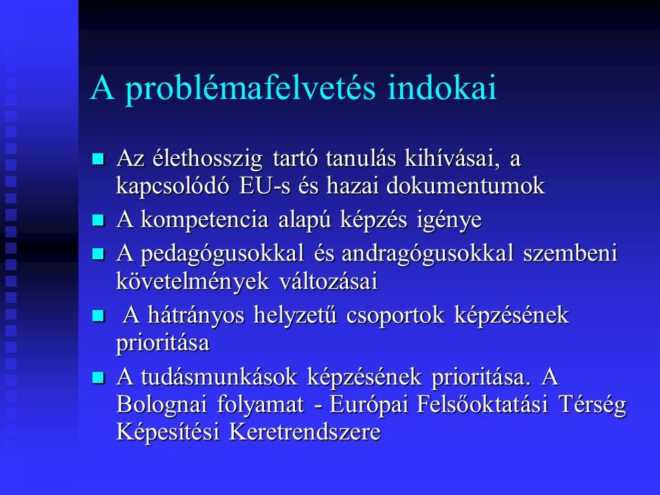 Európai ajánlások a nemzeti stratégiák számára 2.7.