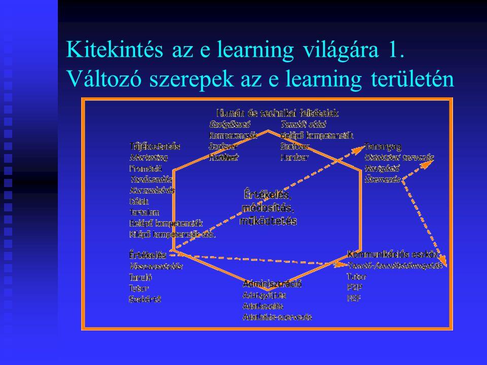 Kitekintés az e learning világára 1. Változó szerepek az e learning területén