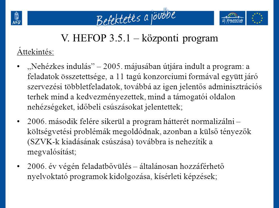 """Áttekintés: """"Nehézkes indulás"""" – 2005. májusában útjára indult a program: a feladatok összetettsége, a 11 tagú konzorciumi formával együtt járó szerve"""
