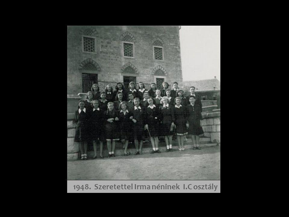 1948-49. tanév - az első padban Pókácz Margit, Galsai Pongrác író édesanyja