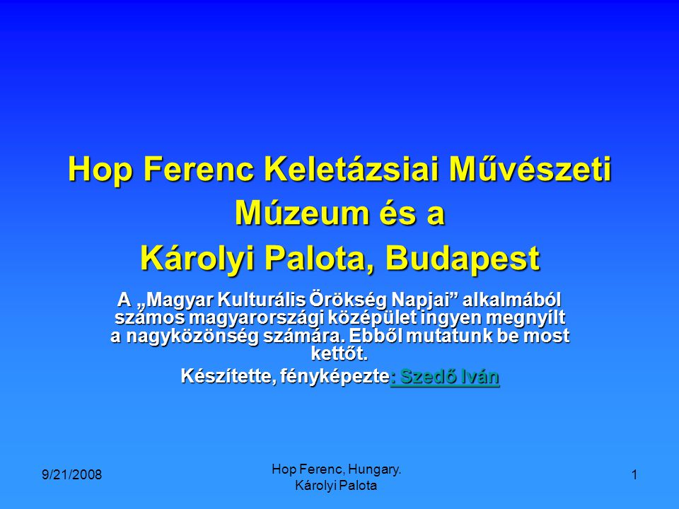 9/21/2008 Hop Ferenc, Hungary.