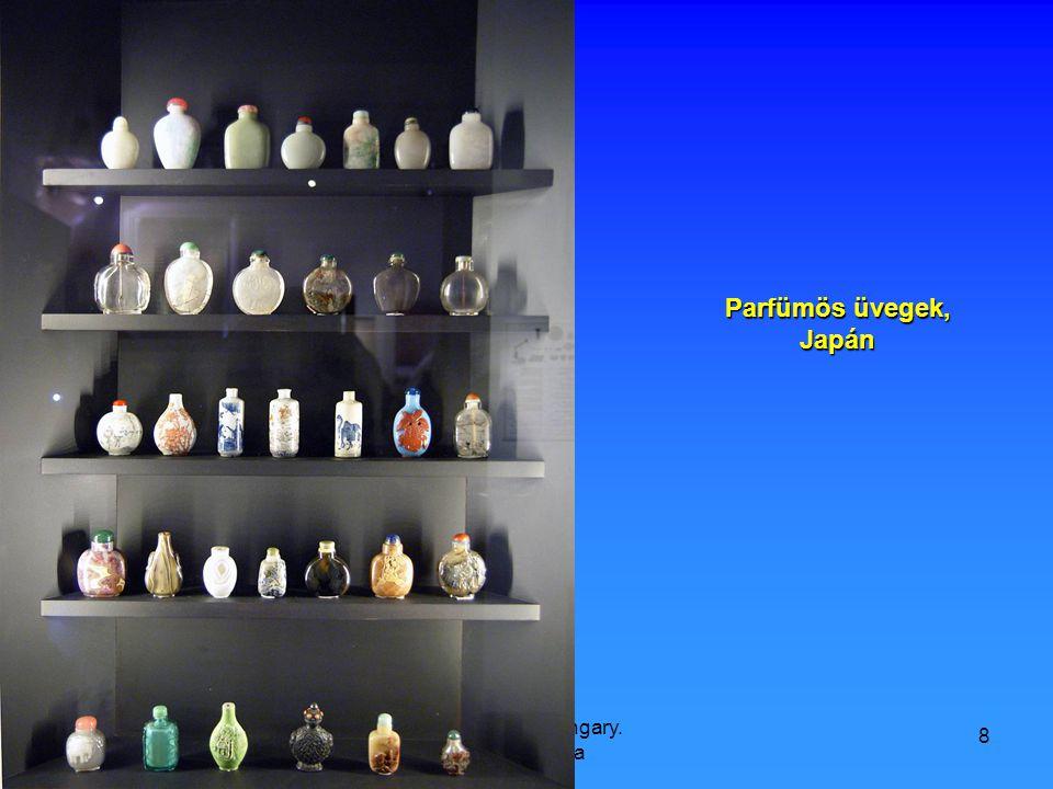 9/21/2008 Hop Ferenc, Hungary. Károlyi Palota 8 Parfümös üvegek, Japán