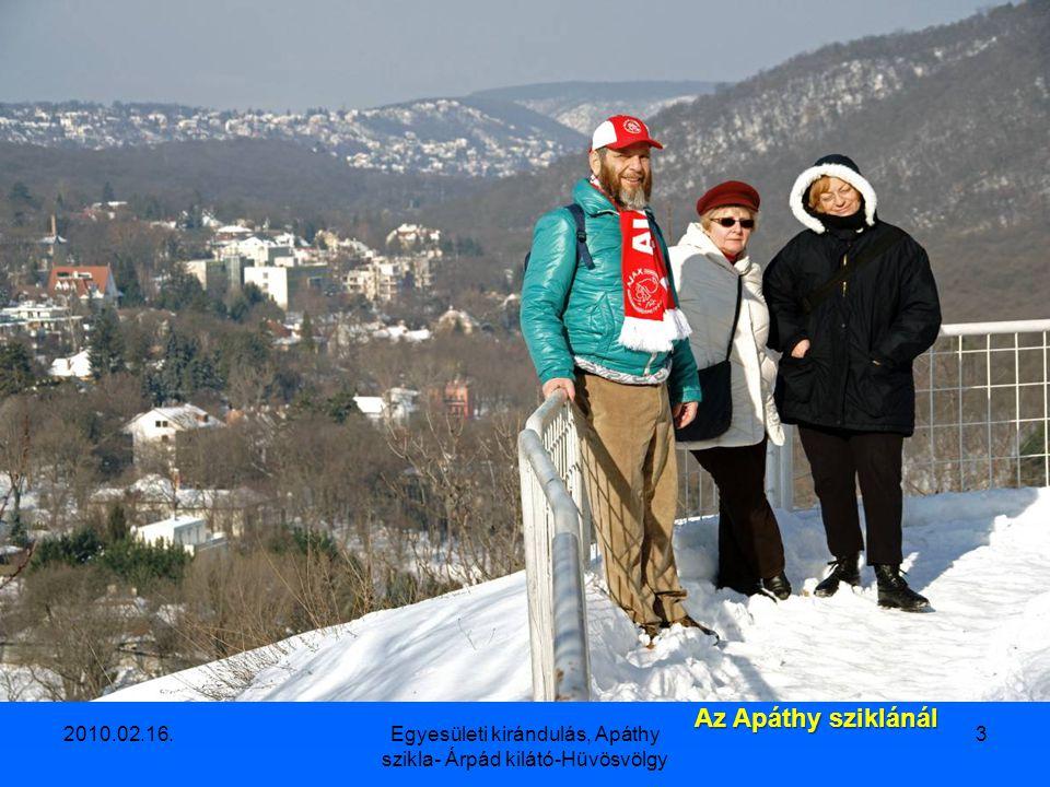 2010.02.16.Egyesületi kirándulás, Apáthy szikla- Árpád kilátó-Hüvösvölgy 3 Az Apáthy sziklánál