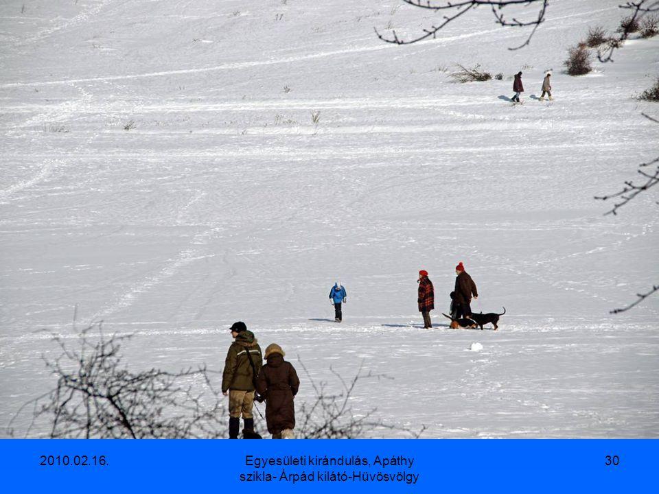 2010.02.16.Egyesületi kirándulás, Apáthy szikla- Árpád kilátó-Hüvösvölgy 29