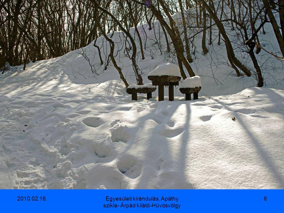 2010.02.16.Egyesületi kirándulás, Apáthy szikla- Árpád kilátó-Hüvösvölgy 5