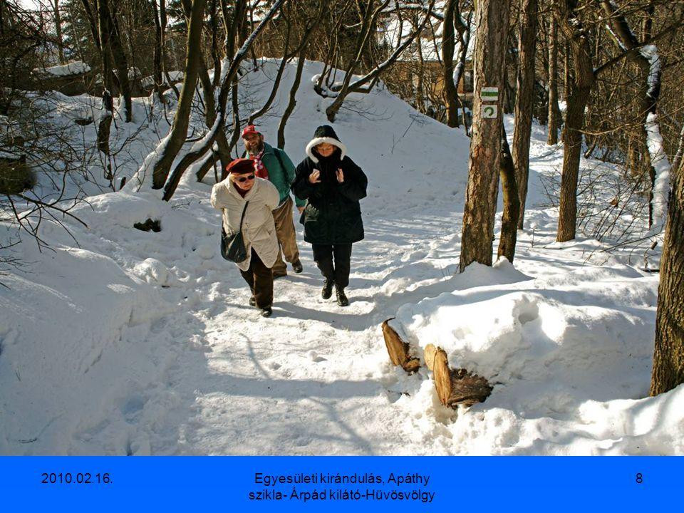 2010.02.16.Egyesületi kirándulás, Apáthy szikla- Árpád kilátó-Hüvösvölgy 7