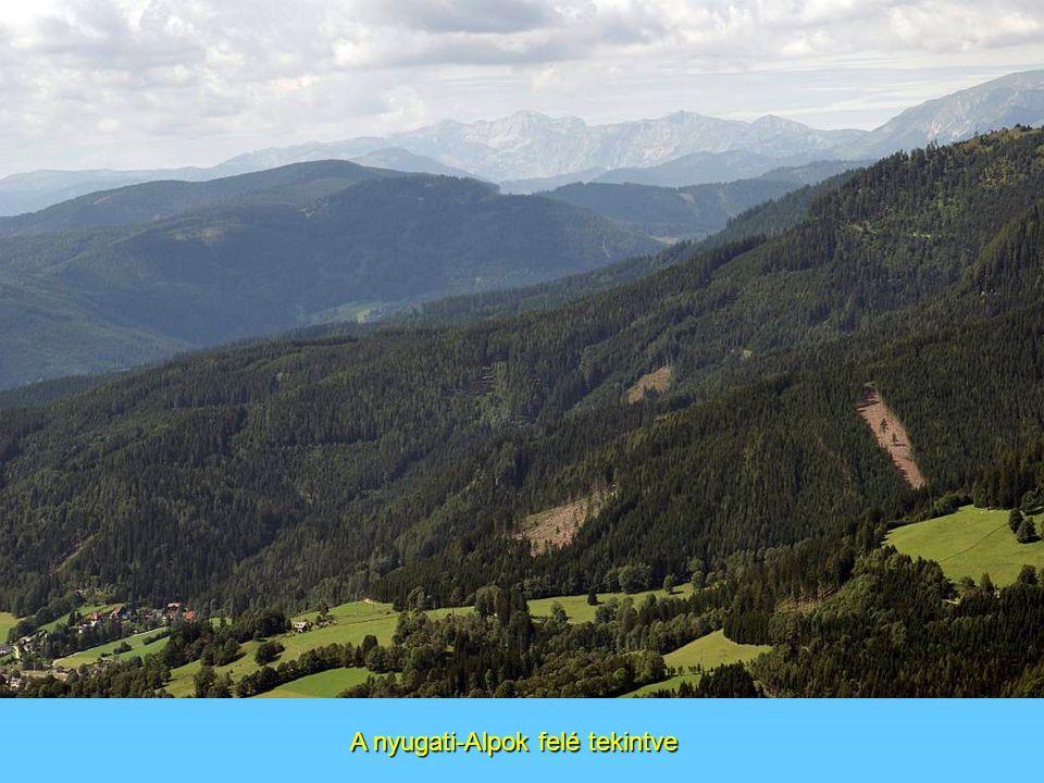 A nyugati-Alpok felé tekintve