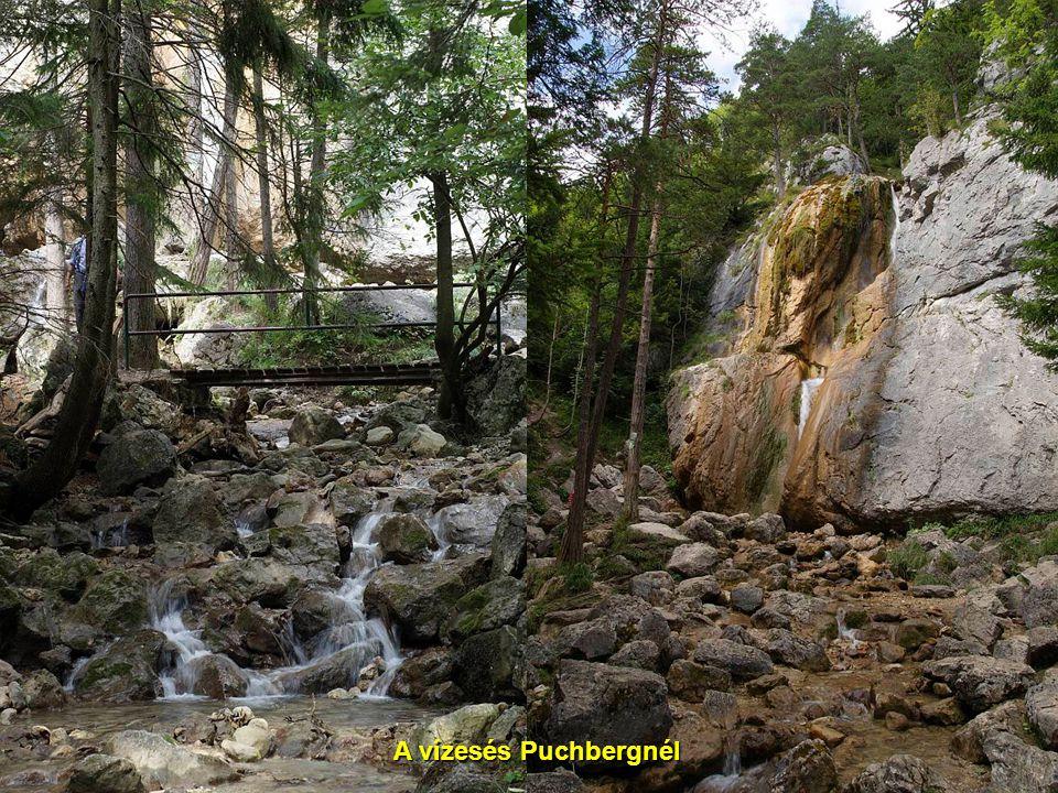 A vízesés Puchbergnél