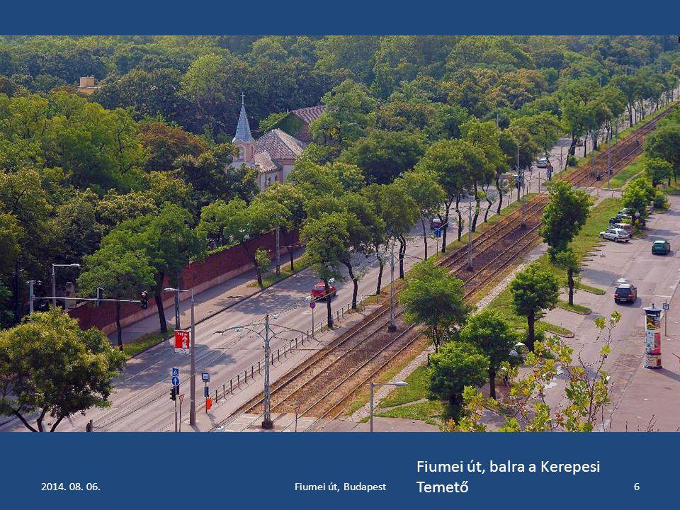 2014. 08. 06.Fiumei út, Budapest6 Fiumei út, balra a Kerepesi Temető
