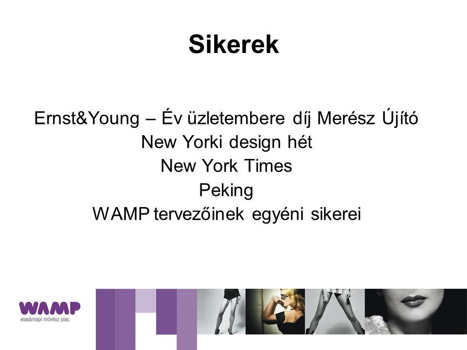 Sikerek Ernst&Young – Év üzletembere díj Merész Újító New Yorki design hét New York Times Peking WAMP tervezőinek egyéni sikerei