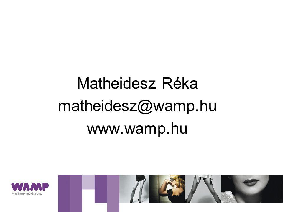 Matheidesz Réka matheidesz@wamp.hu www.wamp.hu