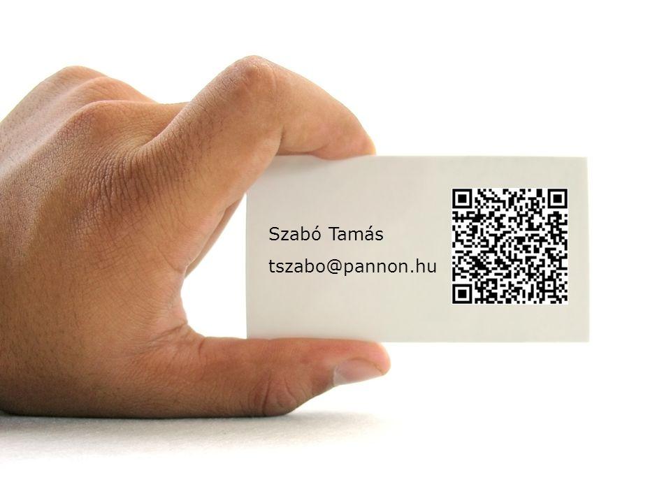Szabó Tamás tszabo@pannon.hu