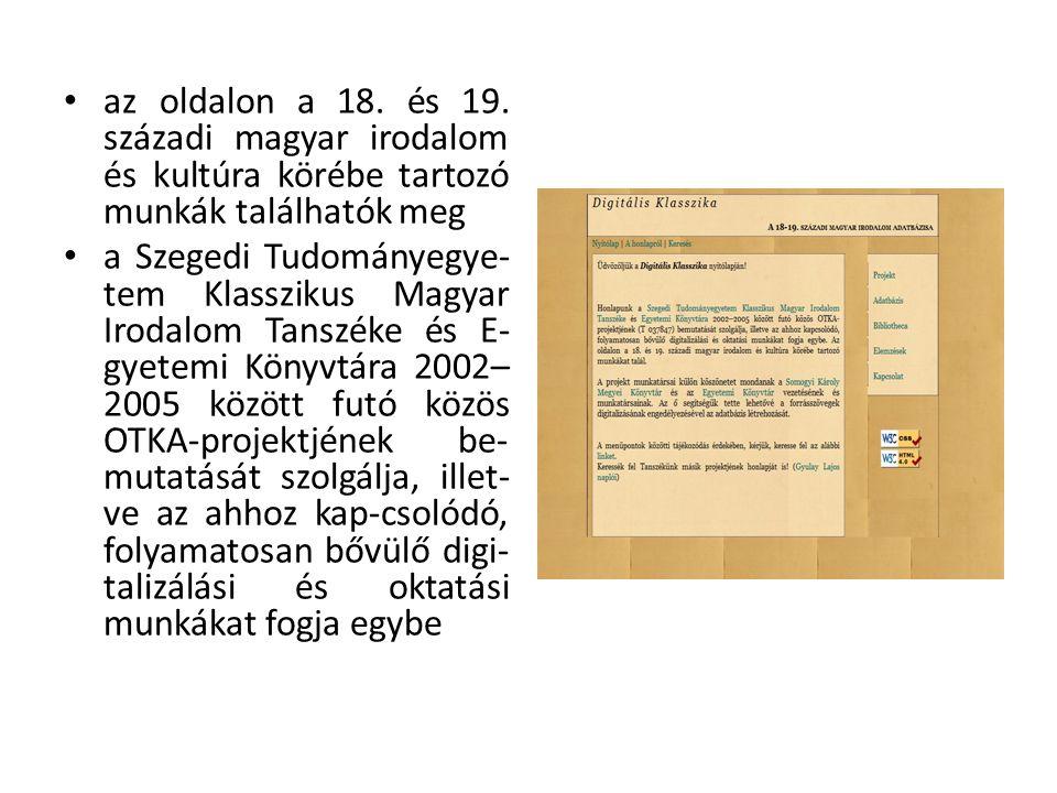 az oldalon a 18. és 19.