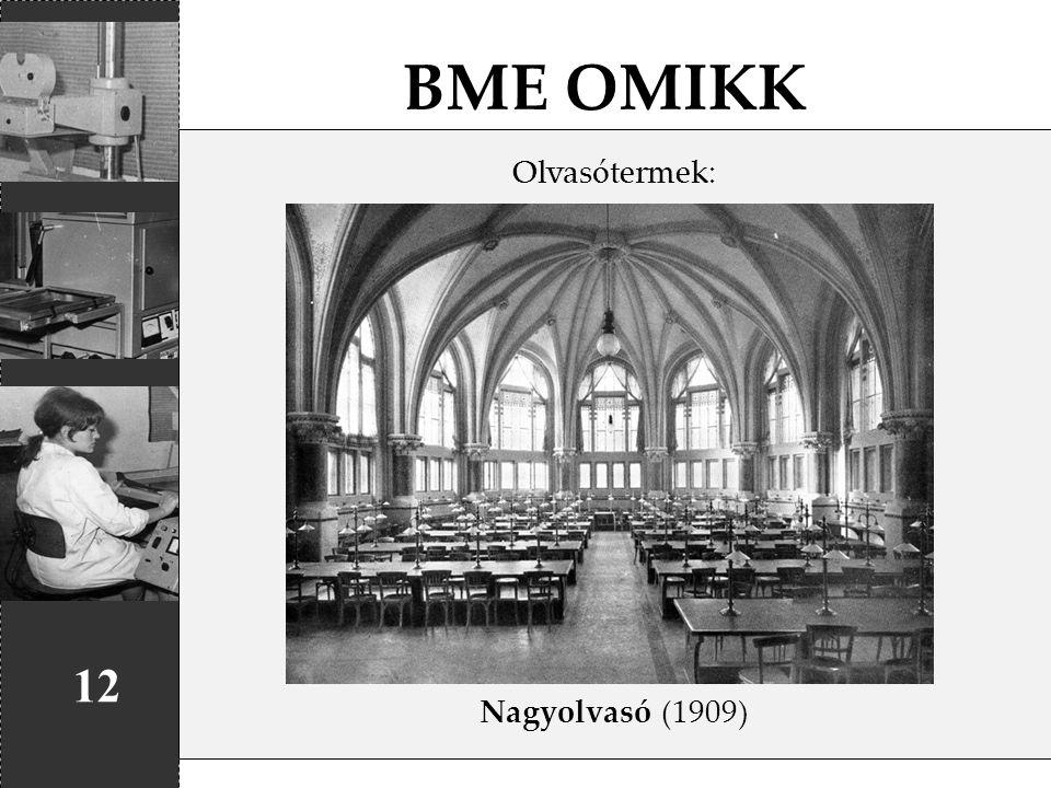 BME OMIKK 12 Olvasótermek: Nagyolvasó (1909)