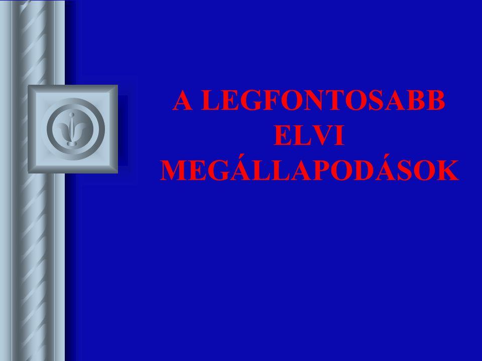 A LEGFONTOSABB ELVI MEGÁLLAPODÁSOK