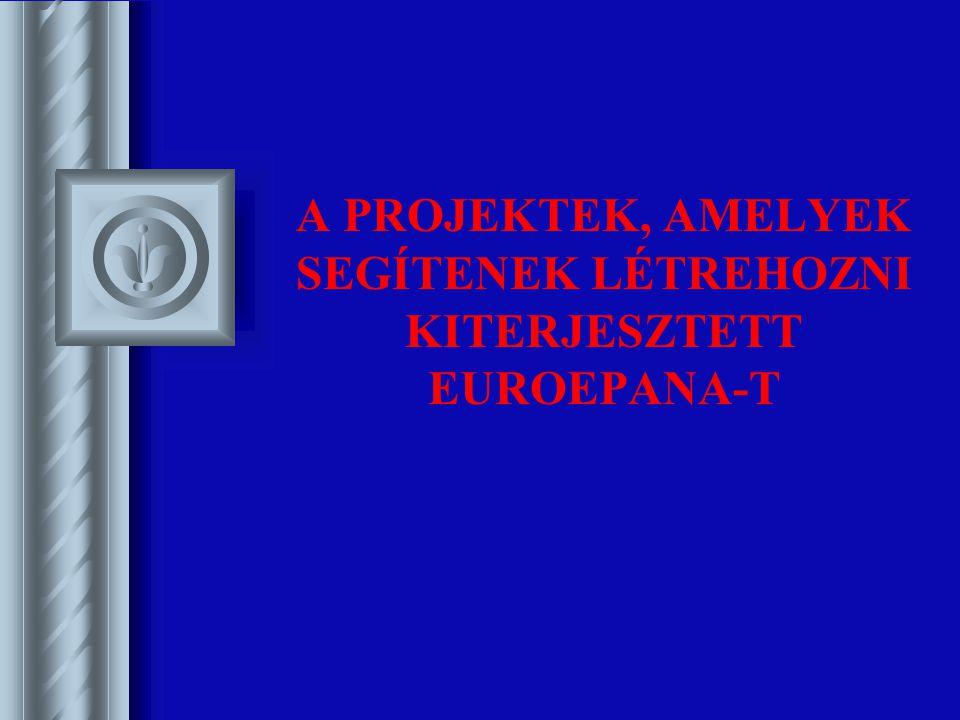 A PROJEKTEK, AMELYEK SEGÍTENEK LÉTREHOZNI KITERJESZTETT EUROEPANA-T