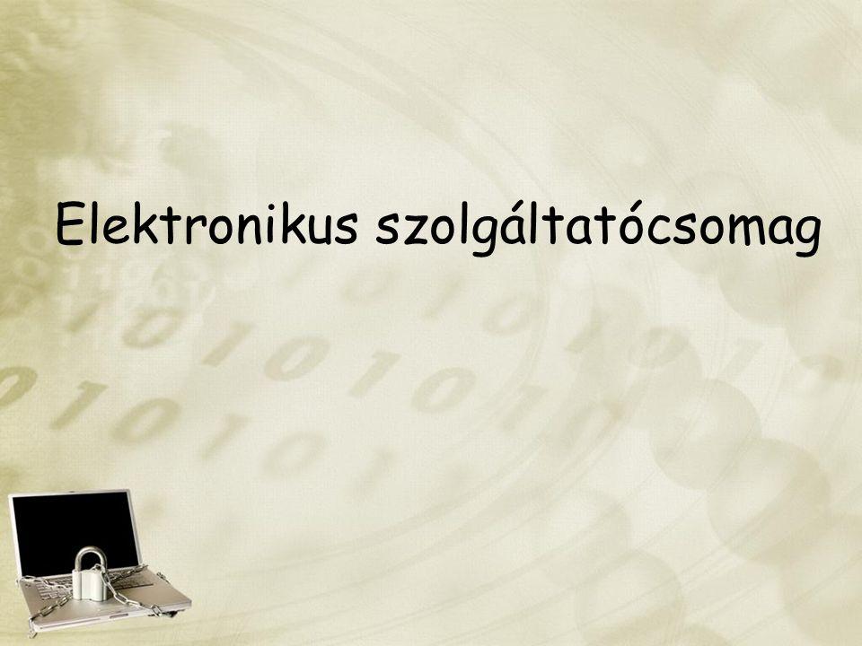 Elektronikus szolgáltatócsomag