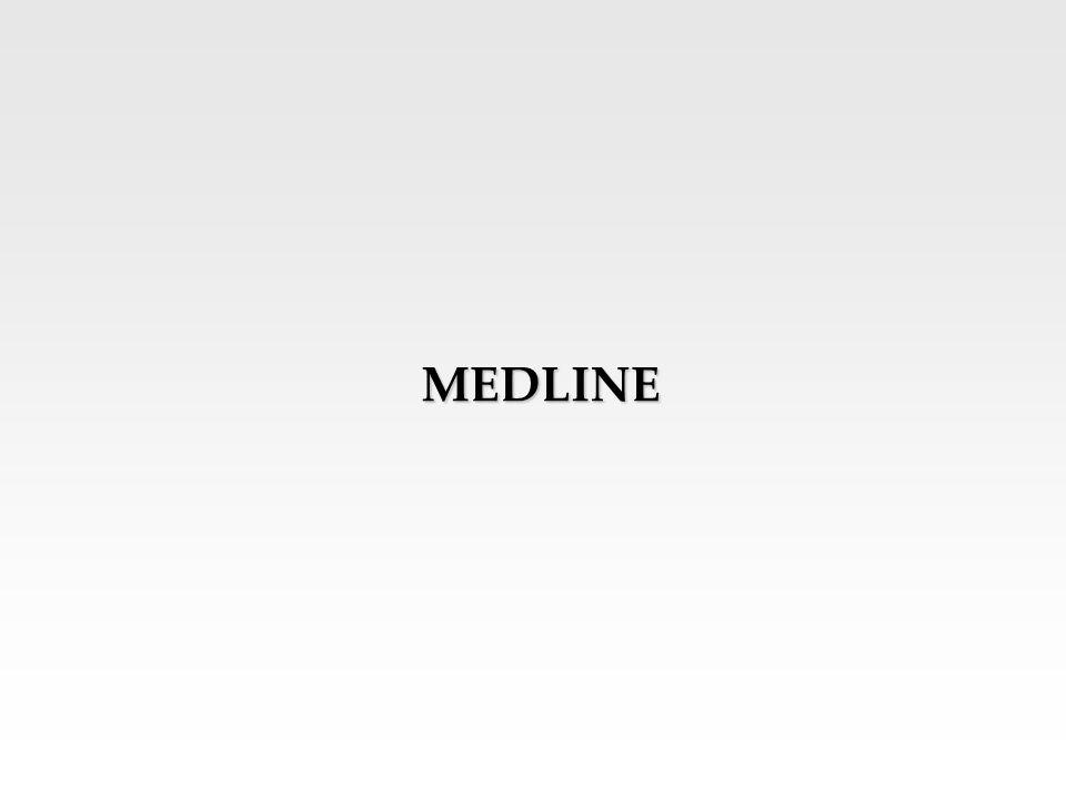 MEDLINE A MEDLINE adatbázis szakmailag irányadó orvosi információt szolgáltat az: orvostudomány, a beteggondozás, a fogászat, az állatorvostan, az egészséggondozási rendszer, a preklinikai tudományok és sok más orvostudományi ág területéről.