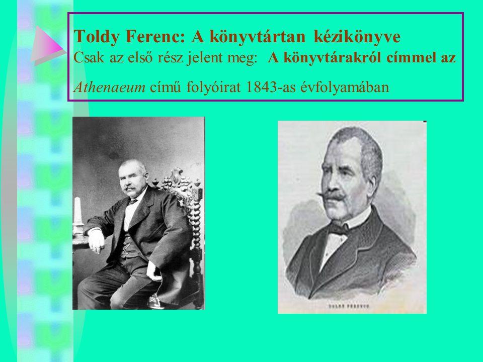 Kudora Károly (1851-1916) : Könyvtártan 1893.