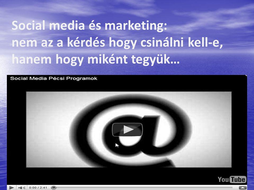 Social media és marketing: nem az a kérdés hogy csinálni kell-e, hanem hogy miként tegyük…