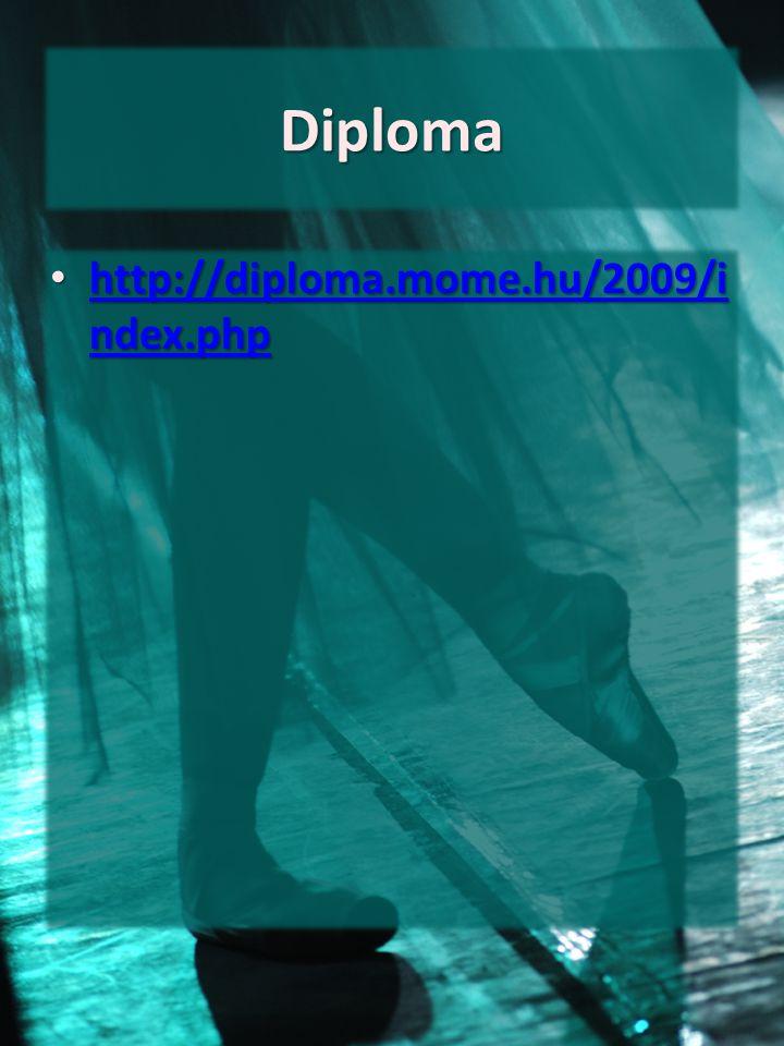Diploma http://diploma.mome.hu/2009/i ndex.php http://diploma.mome.hu/2009/i ndex.php http://diploma.mome.hu/2009/i ndex.php http://diploma.mome.hu/20