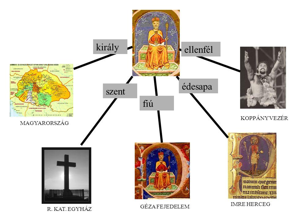 MAGYARORSZÁG R. KAT. EGYHÁZ GÉZA FEJEDELEM IMRE HERCEG KOPPÁNY VEZÉR király szent fiú édesapa ellenfél