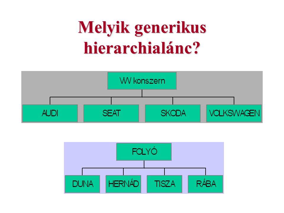 A tématérkép adatmodell A típus-eset kapcsolat.