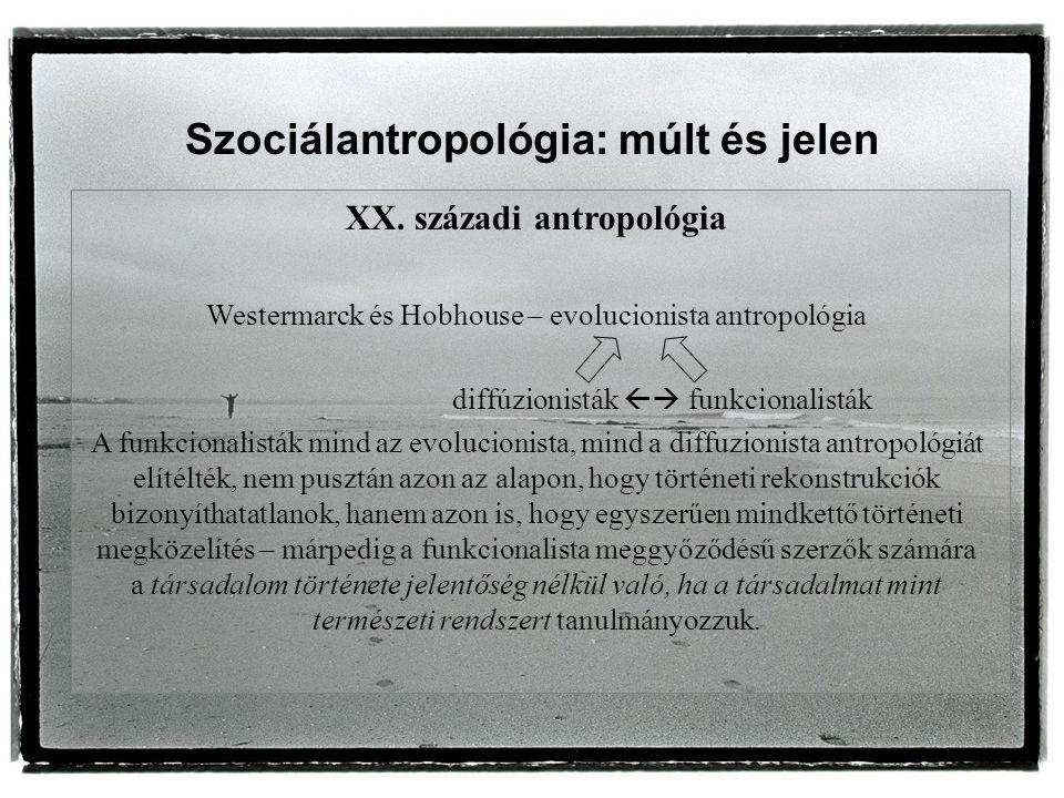 Szociálantropológia: múlt és jelen XX.