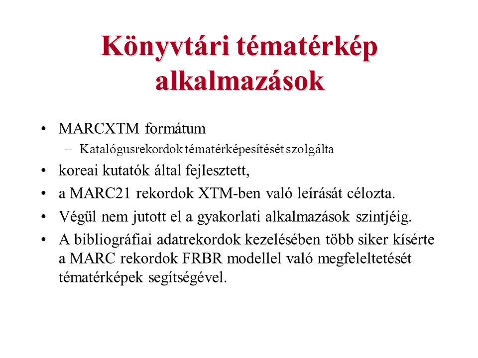 Könyvtári tématérkép alkalmazások MARCXTM formátum –Katalógusrekordok tématérképesítését szolgálta koreai kutatók által fejlesztett, a MARC21 rekordok