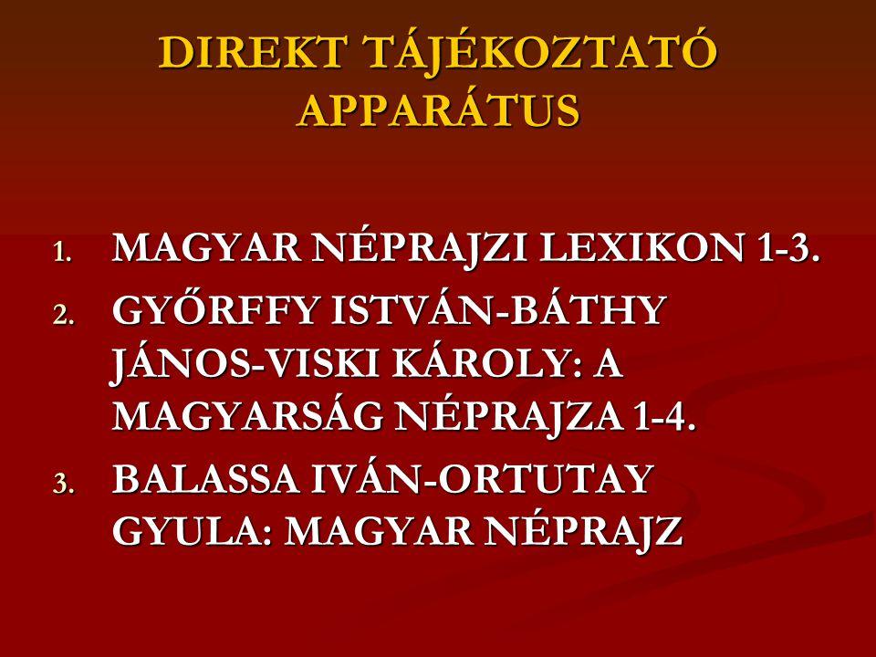 INDIREKT TÁJÉKOZTATÓ APPARÁTUS 1.