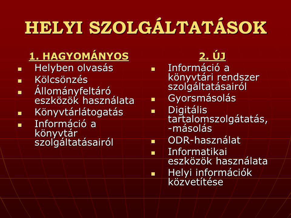 HELYI SZOLGÁLTATÁSOK 1.