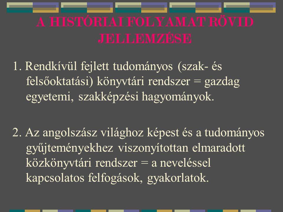 A HISTÓRIAI FOLYAMAT RÖVID JELLEMZÉSE 1.