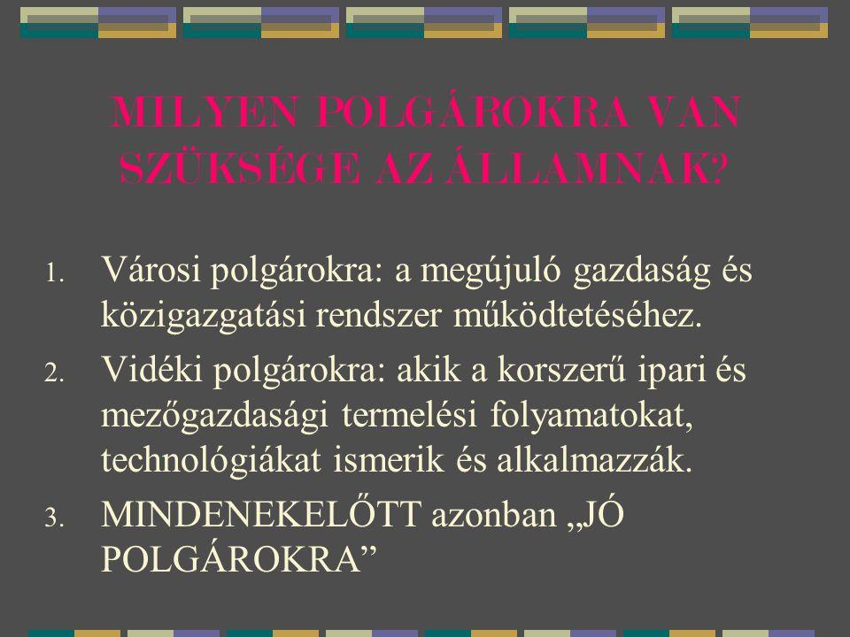 MILYEN POLGÁROKRA VAN SZÜKSÉGE AZ ÁLLAMNAK.1.