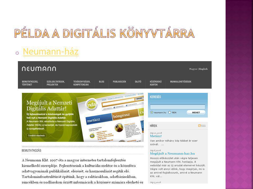 """o A feladatok, a teendők, a szolgáltatások megalapozására alapozott nyílt rendszer o Hozzáférés sem térben, sem időben nem korlátozott o Nincs beiratkozás o Forrásai olyan gyűjtemények, amelyek az interneten keresztül is elérhetőek o A könyvtár """"virtuális piactér és kommunikációs fórum is lehet o Virtuális gyűjteménnyé állhatnak össze az egy gyűjteményre épülő digitális könyvtárak is"""