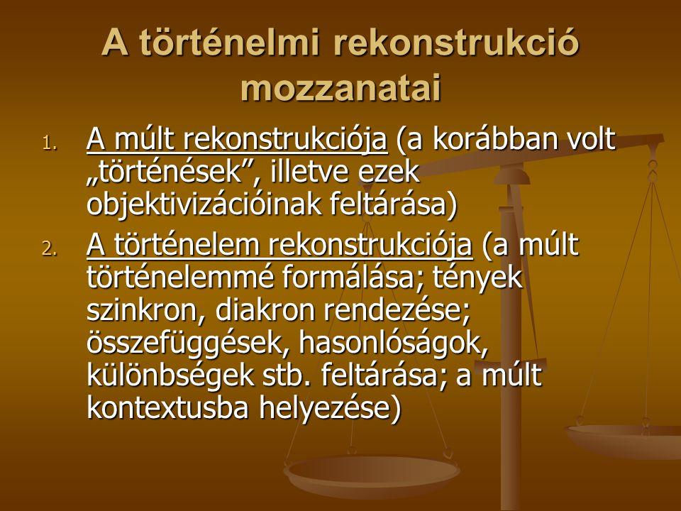 A történelmi rekonstrukció mozzanatai 3.