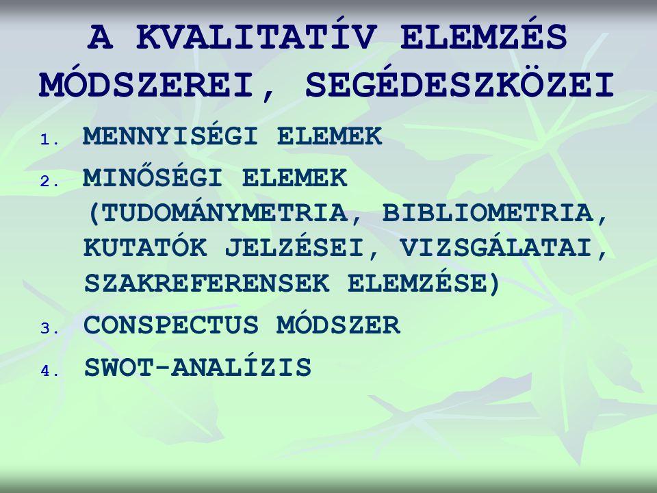 A KVALITATÍV ELEMZÉS MÓDSZEREI, SEGÉDESZKÖZEI 1. 1.