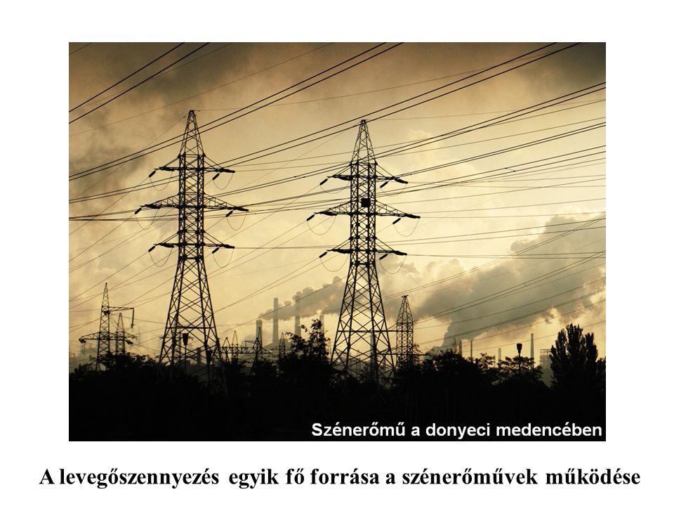 A levegőszennyezés egyik fő forrása a szénerőművek működése