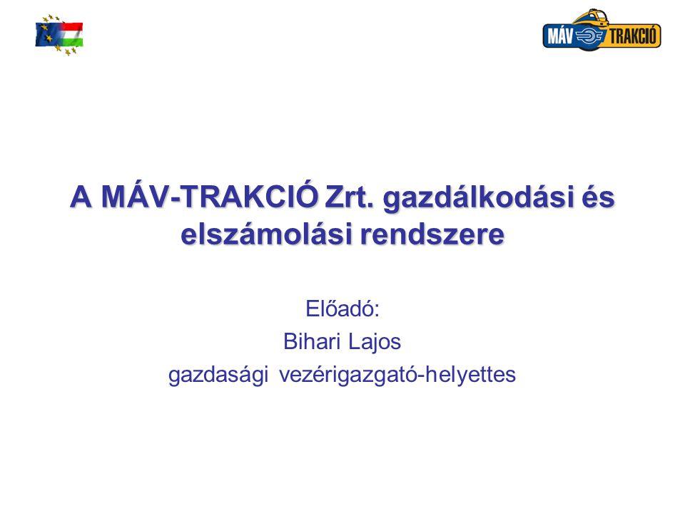 MÁV-TRAKCIÓ Vasúti Vontatási Zártkörűen Működő Részvénytársaság2 A MÁV-TRAKCIÓ Zrt.
