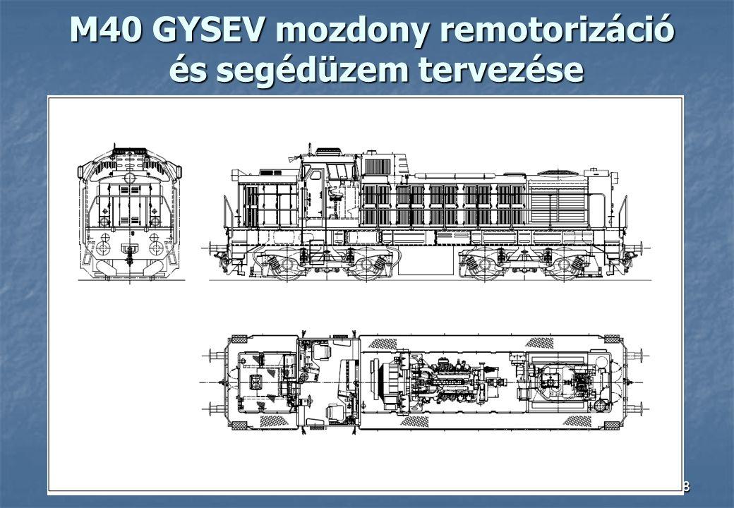 18 M40 GYSEV mozdony remotorizáció és segédüzem tervezése