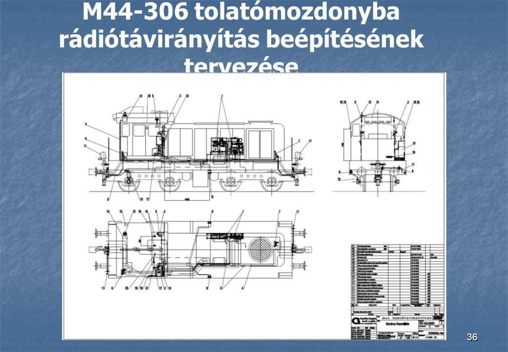 36 M44-306 tolatómozdonyba rádiótávirányítás beépítésének tervezése