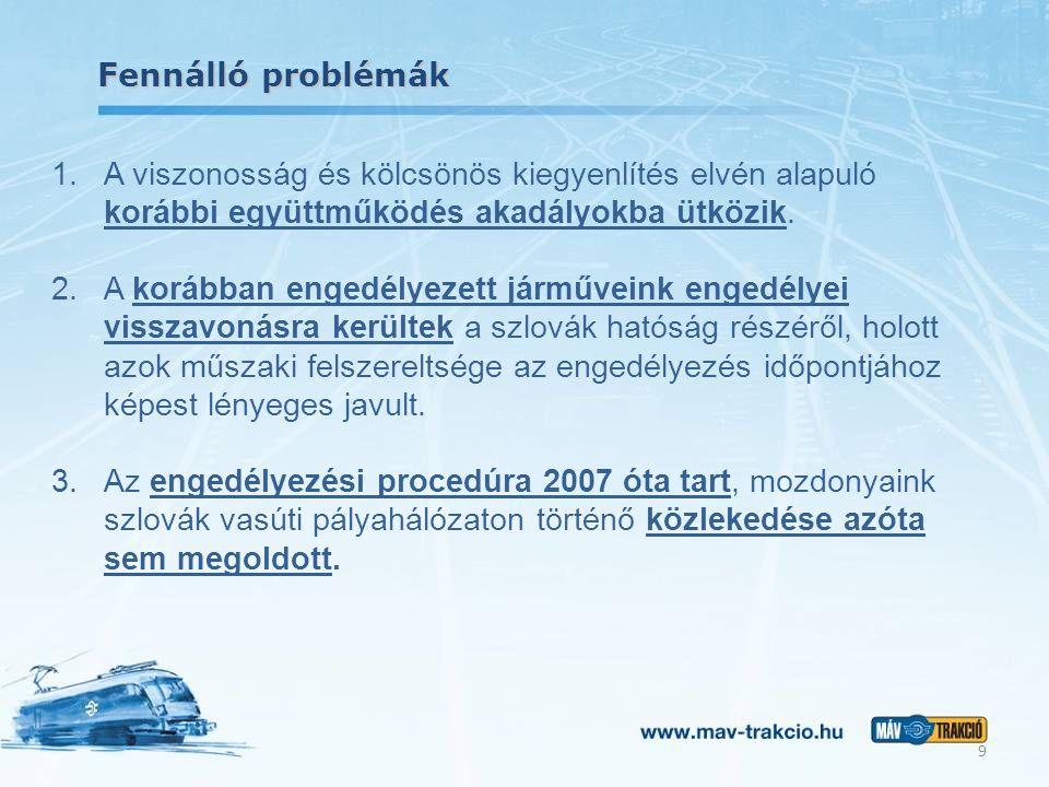 Fennálló problémák 1.A viszonosság és kölcsönös kiegyenlítés elvén alapuló korábbi együttműködés akadályokba ütközik. 2.A korábban engedélyezett jármű